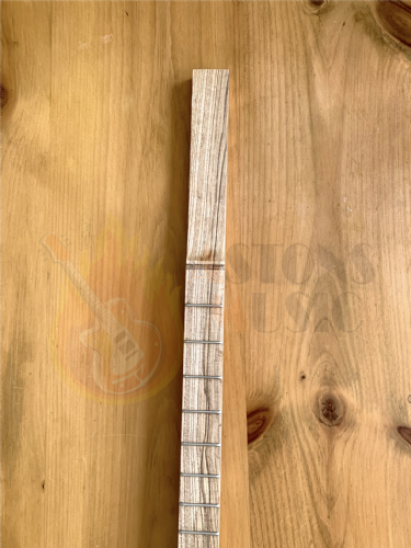 Cigar Box Guitar Neck Fretted Shaped Oak 25.5 inch scale